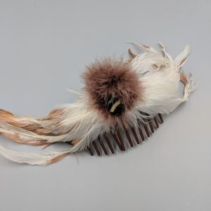 Feathered Hair Comb